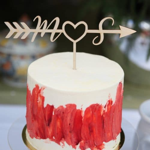 Monogram Wedding Cake Topper by Thistle and Lace