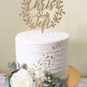 Rustic wedding cake topper by Thistle and Lace Designs Inc