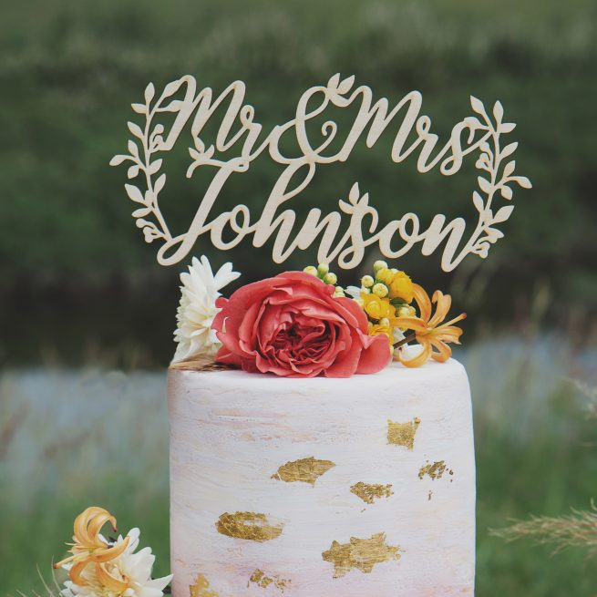 Rustic Wedding Cake Topper