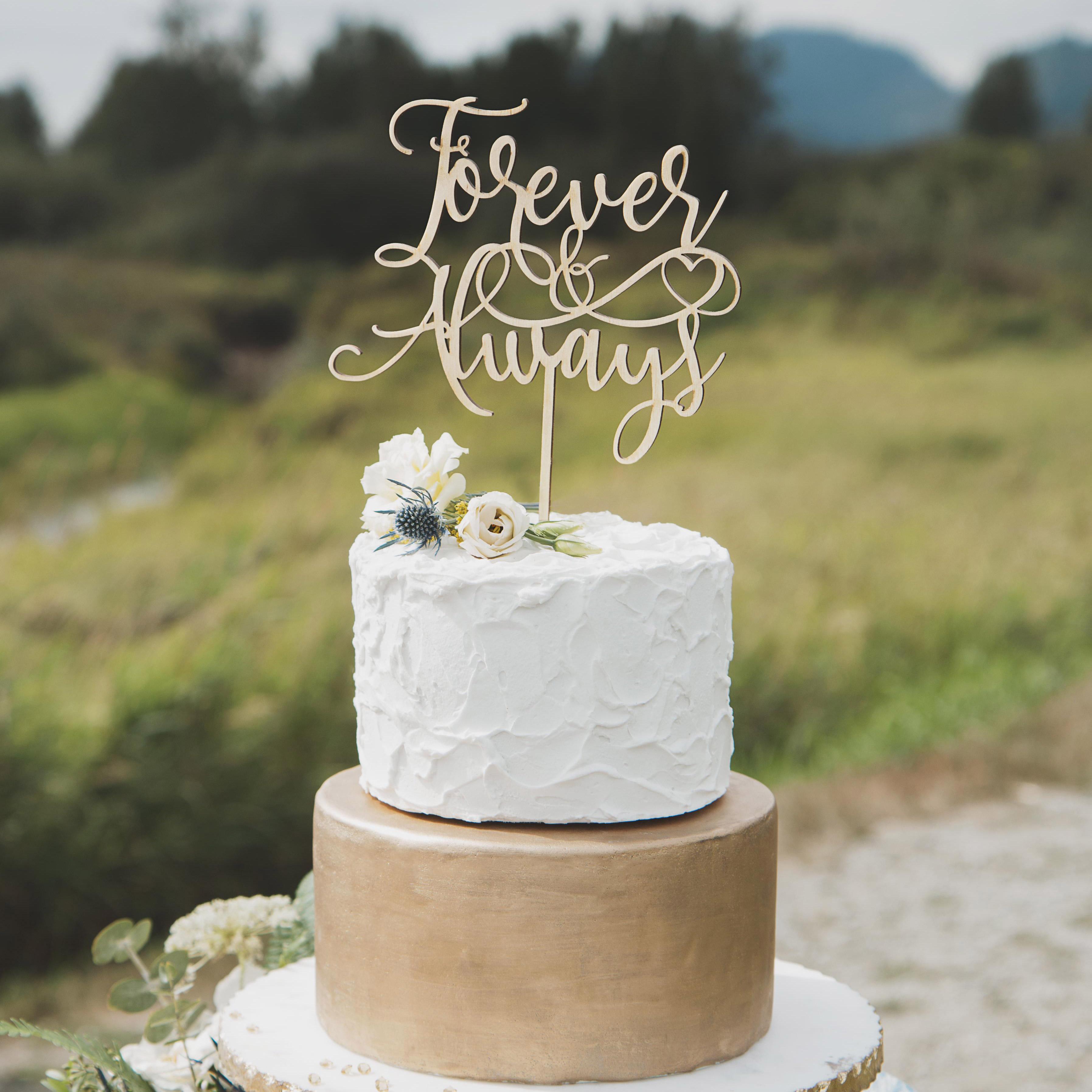 Wedding Cake Topper.Forever And Always Cake Topper
