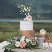 Yay Wedding Cake Topper