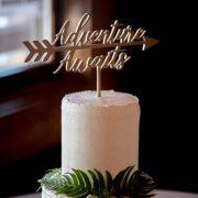 Adventure Awaits Wedding Cake Topper