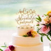 And So Our Adventure Continues Wedding Cake Topper by Thistle and Lace