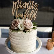 Mr and Mrs Wedding cake topper by Thistle and Lace Designs Inc.