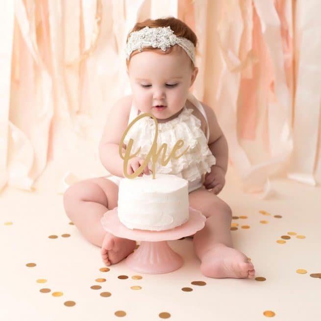 First birthday cake topper by Thistle and Lace Designs Inc