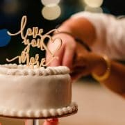 Love you more wedding cake topper by Thistle and Lace
