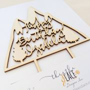 Mountain Birthday Cake Topper by Thistle and Lace Inc
