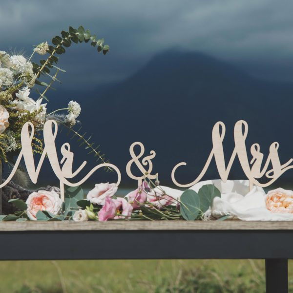 Mr and Mrs Wedding Signs
