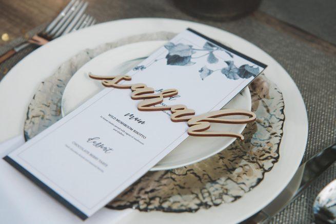 Elegant Place Names and Wedding Decor