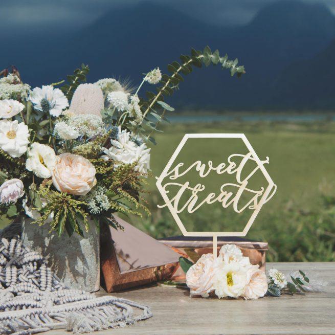 Sweet Treats Geometric Wedding Table Signs
