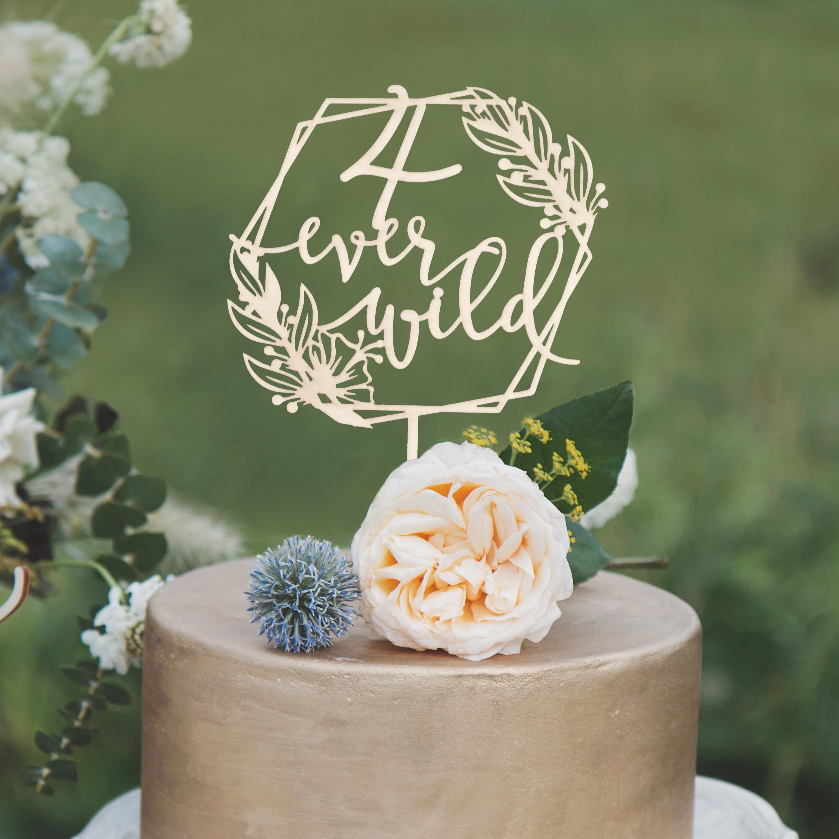 4 Ever Wild Birthday Cake Topper by Thistle and Lace