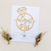 Almost Mrs Bridal Shower Cake Topper by Thistle and Lace