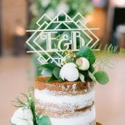 Art Deco Monogram Wedding cake topper by Thistle and Lace