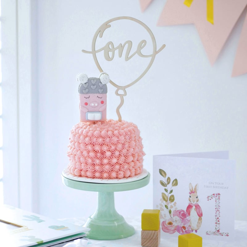 Custom Balloon Cake Topper by Thistle and Lace