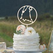Celestial Wedding Cake Topper