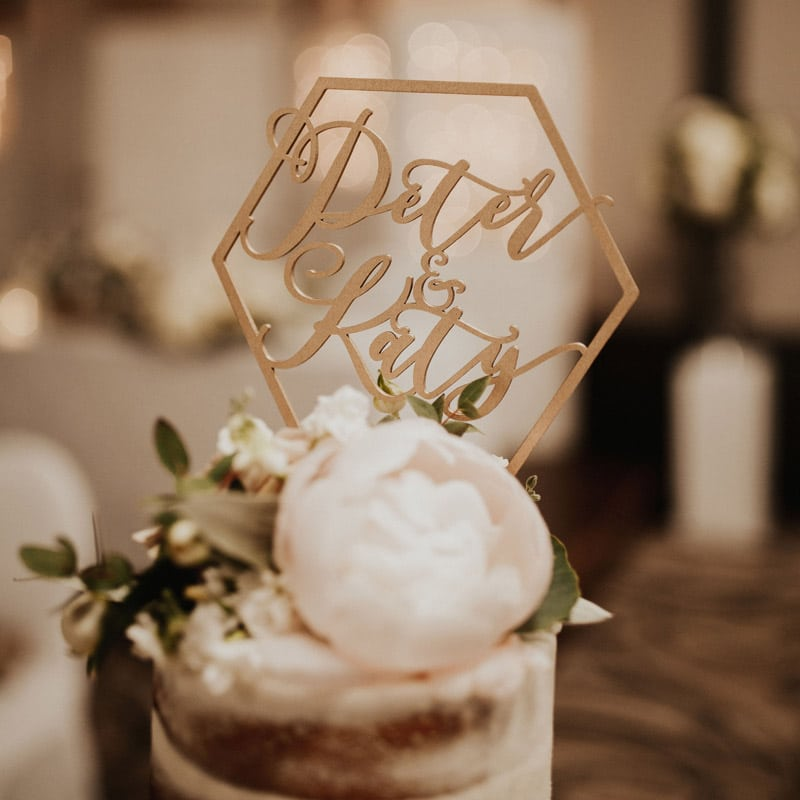 Custom Wedding cake topper by Thistle and Lace