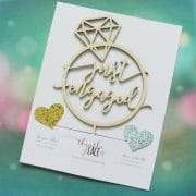 Just Engaged Cake Topper by Thistle and Lace