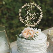 Let love grow wedding cake topper