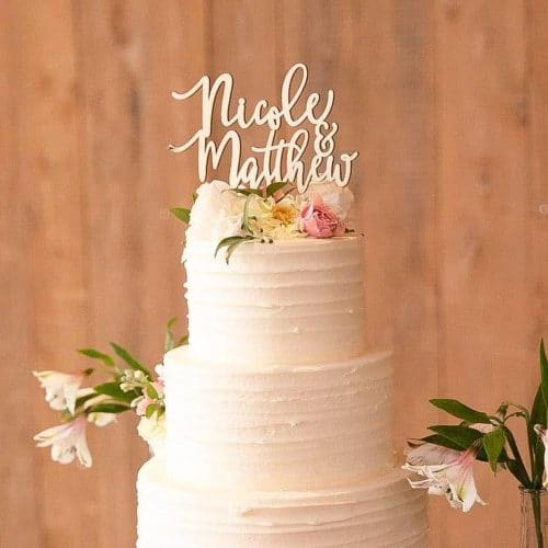 Custom Mr and Mrs Cake Topper By Thistle and Lace