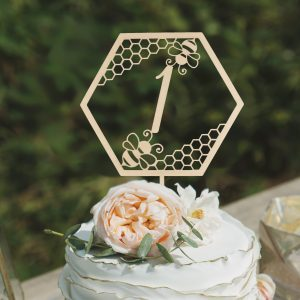 Bee Themed birthday cake topper