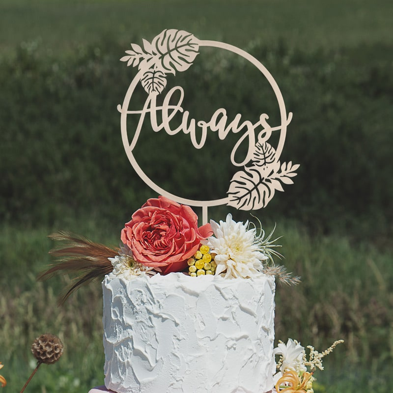 Always Wedding cake topper by Thistle and Lace