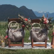 Bride and Groom Rustic Chair Signs