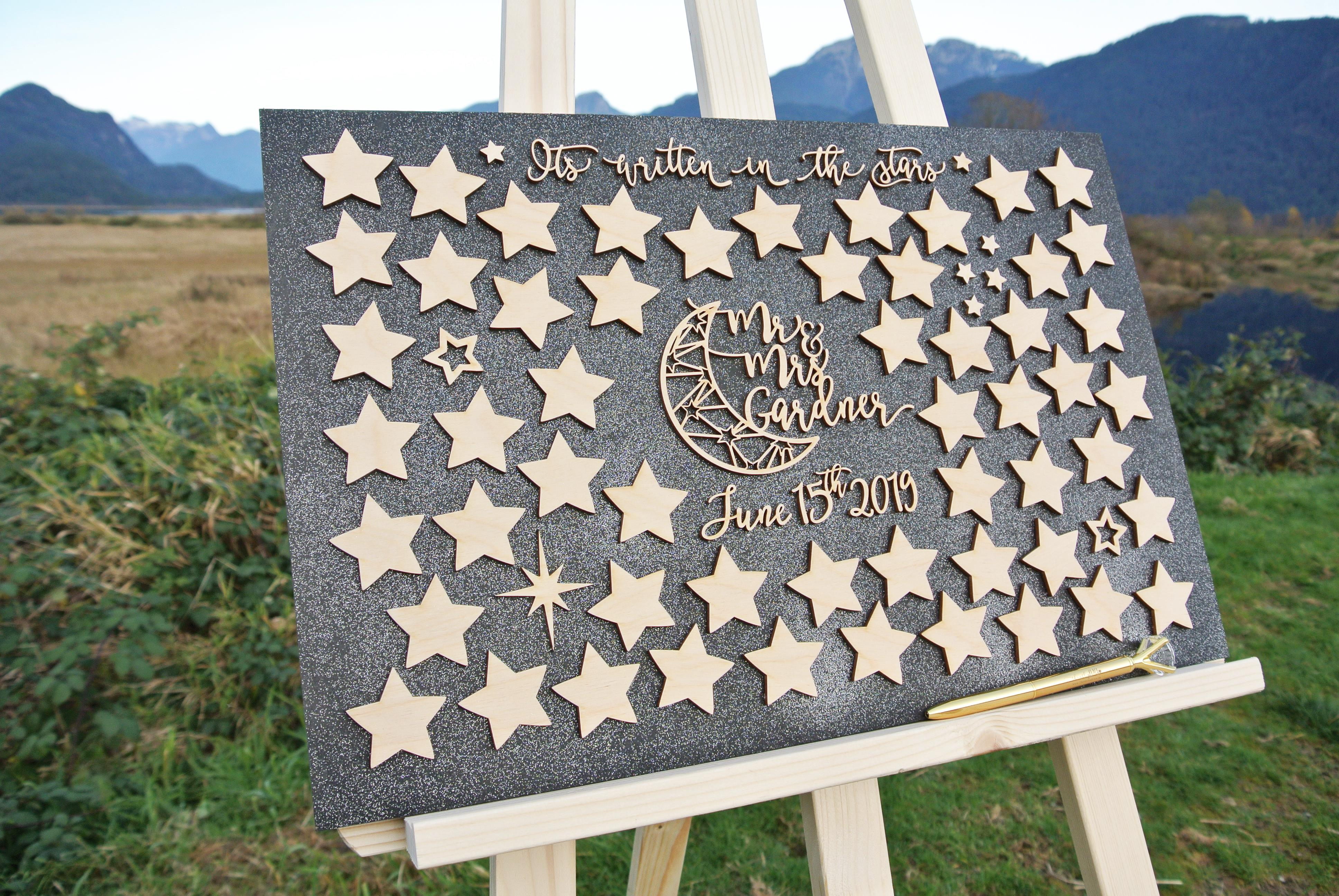 Celestial Themed Alternative Guestbook 172