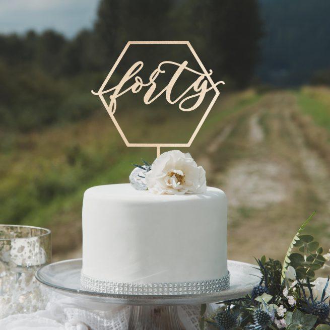 Modern Birthday Cake Topper