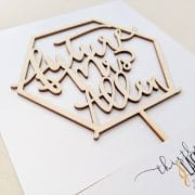 Geometric Future Mrs Cake Topper by Thistle and Lace Designs Inc