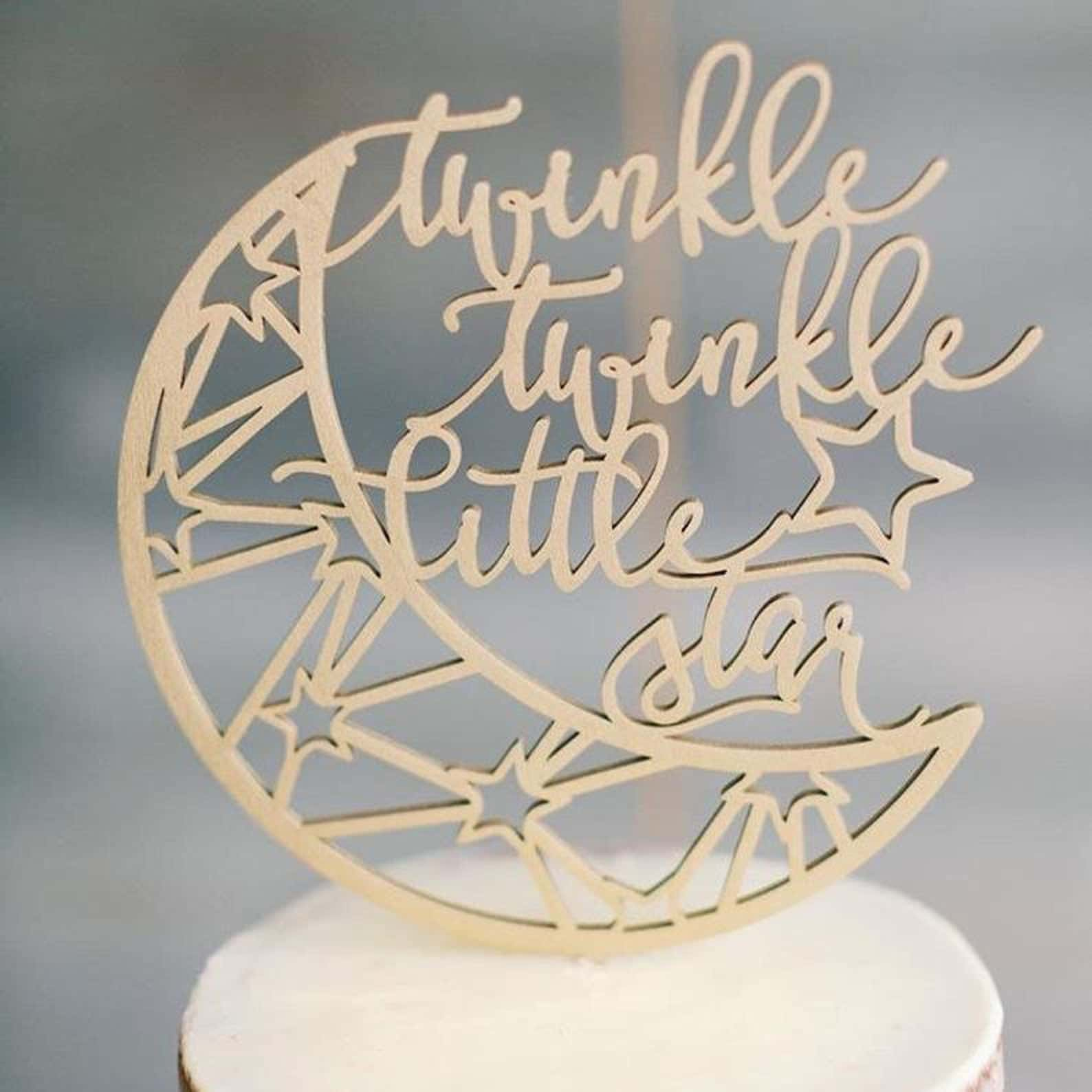 Twinkle Twinkle Little Star Cake Topper by Thistle and Lace