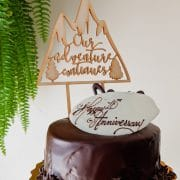 Our Adventure Continues - Wedding cake topper by Thistle and Lace