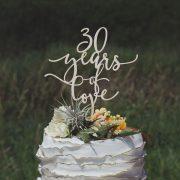 30 years of love anniversary cake topper