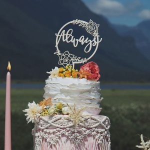 Always Floral Cake Topper