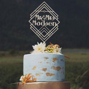 Custom Art Decor Wedding Cake Topper