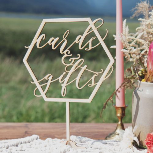 Cards and Gifts Geometric Wedding Decor