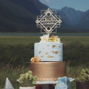 Custom Art Deco Mr and Mrs Wedding cake topper