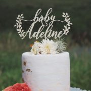 Woodland baby shower cake topper