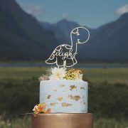 Dinosaur Cake Topper by Thistle and Lace