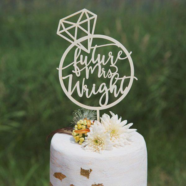 Custom Bridal Shower Cake Topper