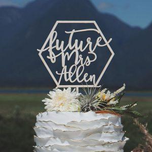 Future Mrs Bridal shower cake topper