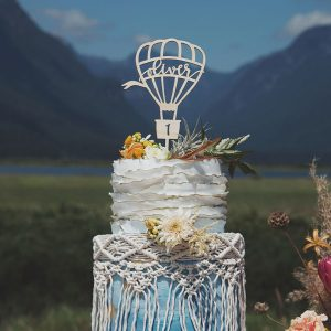 Hot Air Balloon Birthday cake topper