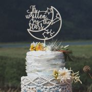 It's written in the stars celestial wedding cake topper