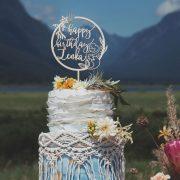 Custom birthday cake topper for mermaid party