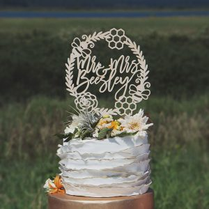 Custom Bee Wedding Cake Topper