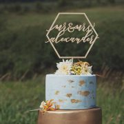 Custom Geometric cake topper
