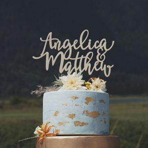 Custom Mr and Mrs Cake Topper