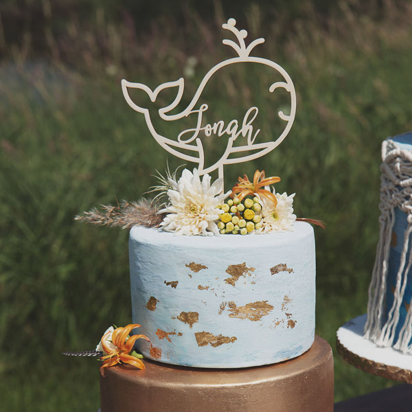 Whale Birthday Cake Topper