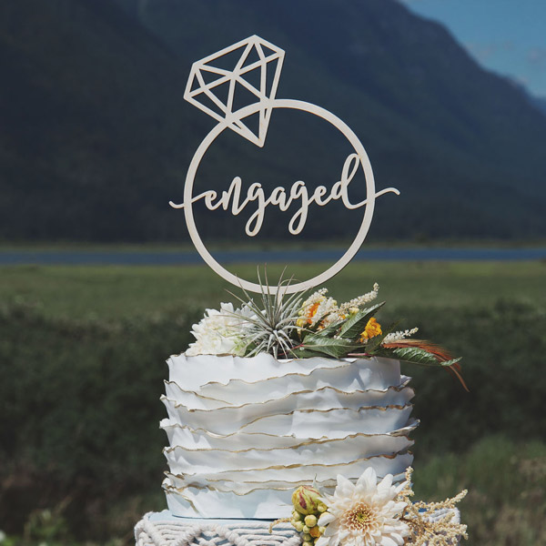 Engaged Cake Toppper
