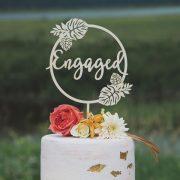 Tropical bridal shower cake topper
