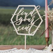Find Your Seat Geometric Wedding Table Signs